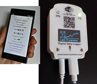 Recording Thermometer and Hygrometer with WiFi access - BS-T&H WiFi